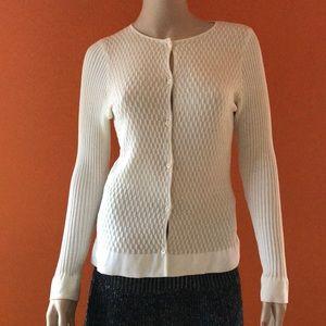 PIAZZA SEMPIONE Cream Sweater Top 42 S